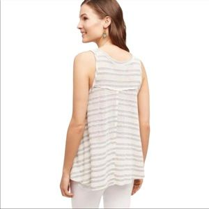 Anthropologie On The Road Striped Swing Top S